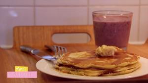 Petit Déjeuner Américain – Pancakes et Milk Shake Energie