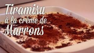 Tiramisu à la crème de Marrons